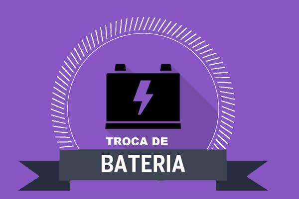 Como é feita a troca da bateria de um carro?